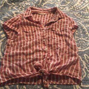 Cropped Button down shirt